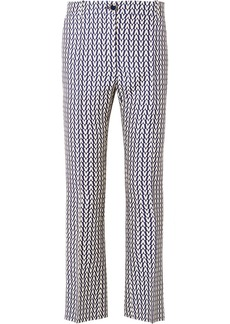 Valentino Printed Wool And Silk-blend Flared Pants