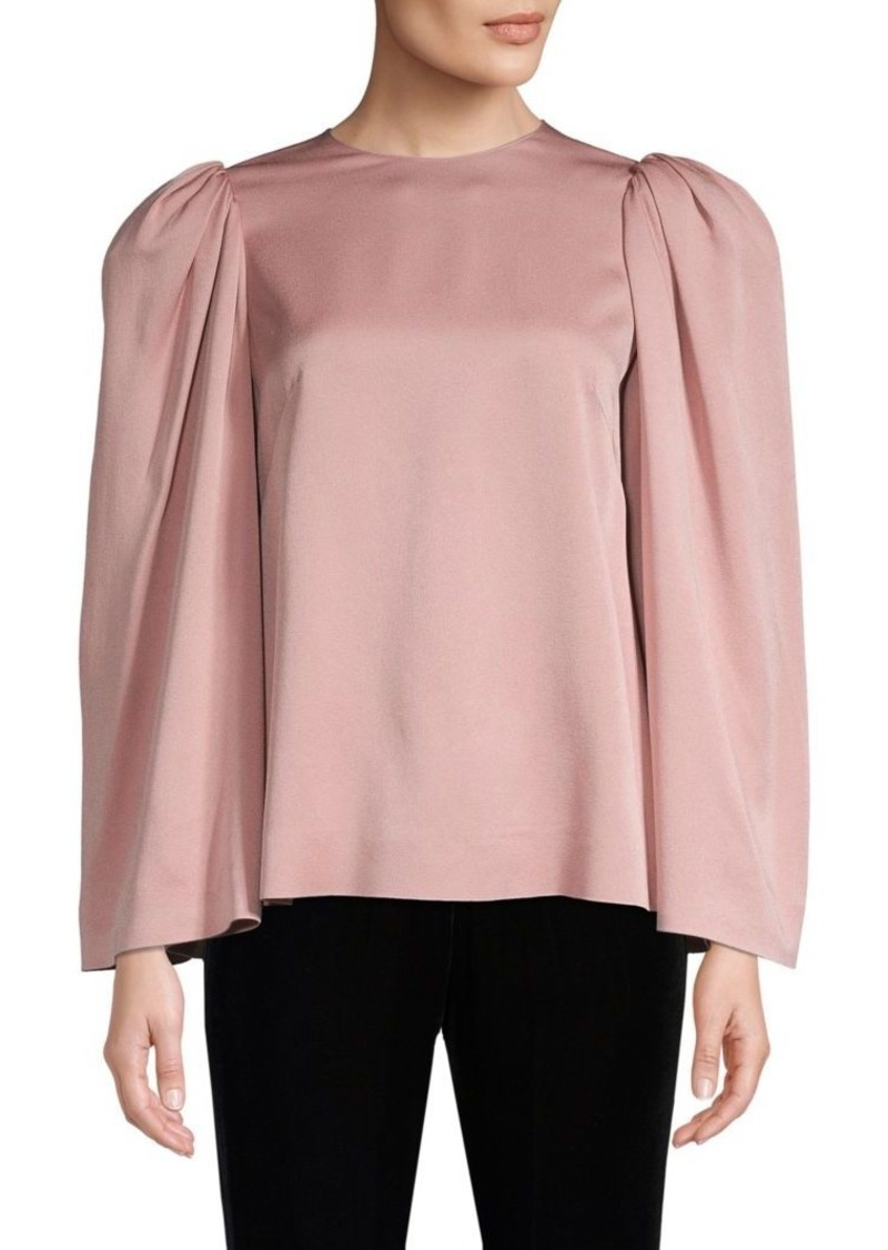 Valentino Puff Shoulder Blouse