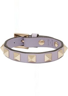 Purple Valentino Garavani Leather Rockstud Bracelet