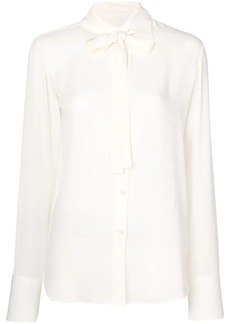 Valentino pussy bow silk blouse