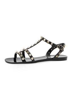 Valentino PVC Rockstud Flat Sandals
