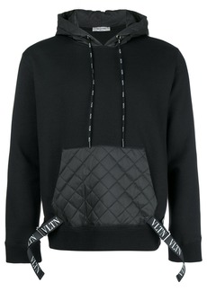 Valentino quilted pocket hoodie