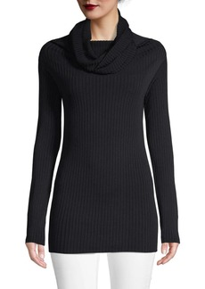 Valentino Ribbed Cowlneck Sweater