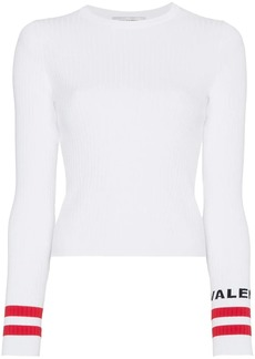 Valentino ribbed logo cuff top