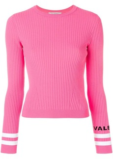 Valentino ribbed logo cuff top