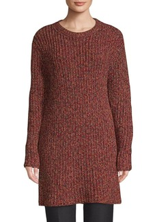 Valentino Ribbed Long-Sleeve Tunic