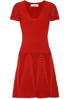 Valentino Ribbed stretch-knit minidress