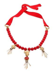 Valentino Garavani Ribbon Back Charm Necklace