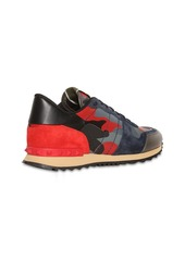 Valentino Rock Runner Leather Sneakers