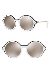 Valentino Rockstud 53MM Mirrored Round Sunglasses