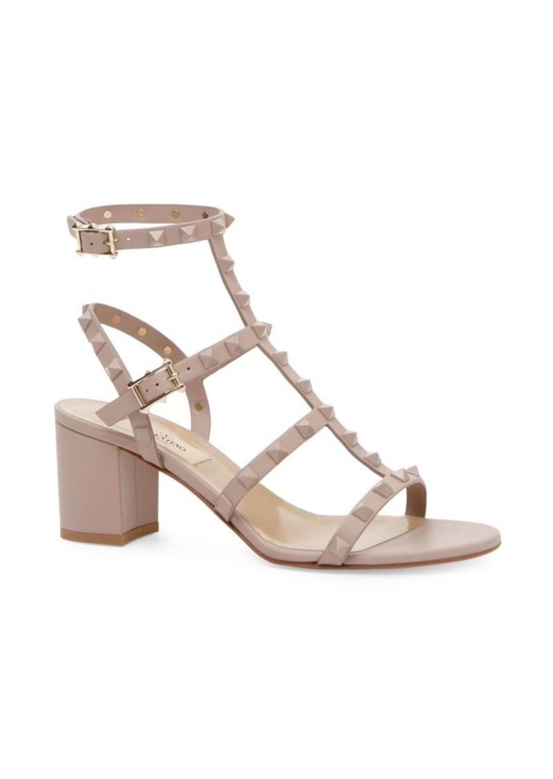 7f66bc23c1 Valentino Rockstud Block Heel Sandals | Shoes