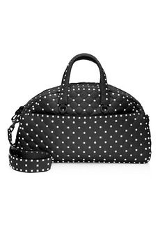 Valentino Rockstud Spike Leather Bowling Bag