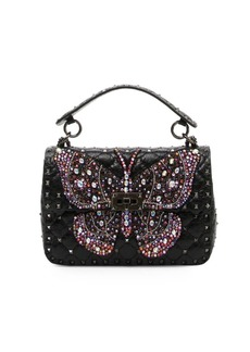 Valentino Rockstud Butterfly Shoulder Bag