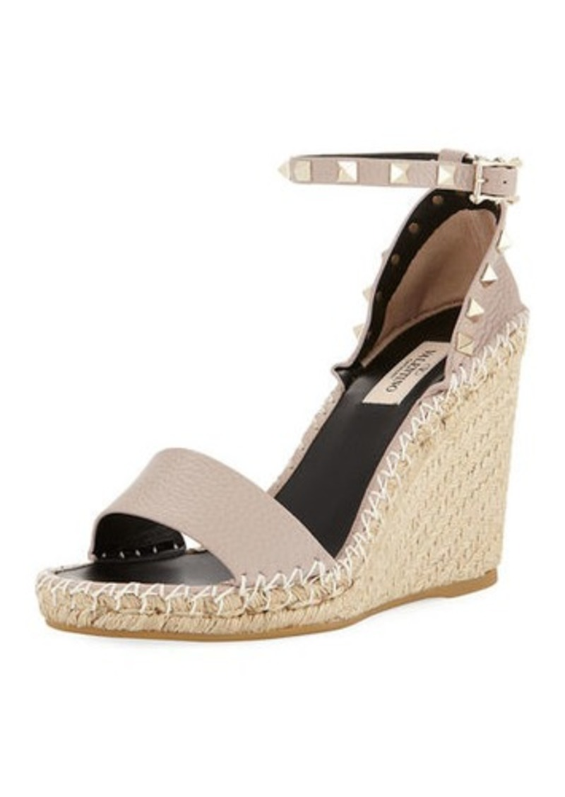 e4ae1babd5c Rockstud Double Espadrille Wedge Sandals