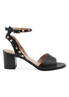 Valentino Garavani Rockstud Double Ankle-Strap Leather Sandals