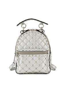Valentino Rockstud Embellished Leather Backpack