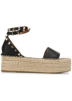 Valentino Rockstud espadrille flatform sandals