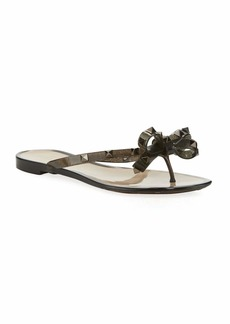 Valentino Rockstud Flat Jelly Thong Sandals