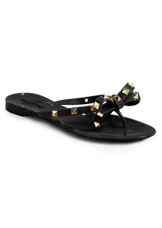 Valentino Rockstud Jelly Thong Sandals
