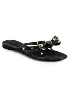 Valentino Garavani Rockstud Bow Jelly Thong Sandals