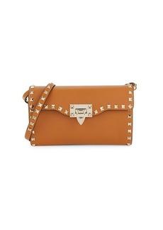 Valentino Rockstud Leather Crossbody Clutch
