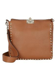 Valentino Rockstud Leather Messenger Bag