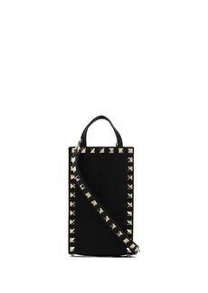 Valentino Rockstud leather phone holder