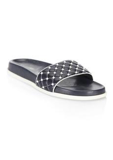 Valentino Rockstud Leather Slides