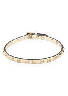 Valentino Rockstud Metallic Leather Choker Necklace