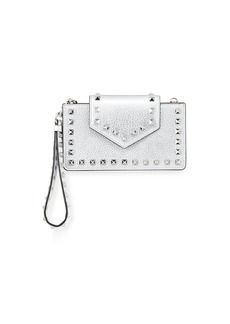 Valentino Rockstud Metallic Leather Flap Phone Case with Chain
