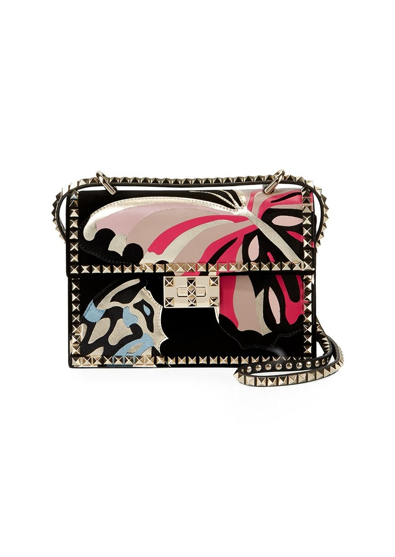 c1cce8a3ae Valentino Rockstud No Limit Butterfly Velvet Shoulder Bag | Handbags