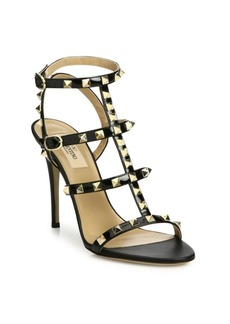 Valentino Rockstud Patent Leather Gladiator Sandals