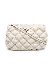 Valentino Rockstud quilted clutch bag