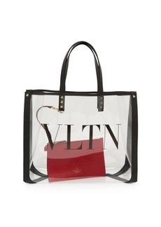 Valentino Garavani Small VLTN PVC Tote Duo