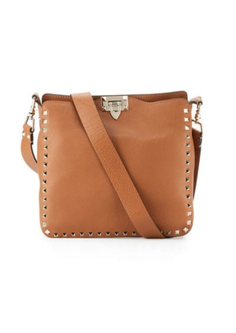1509d3a7d1d Valentino Rockstud Small Leather Hobo Bag