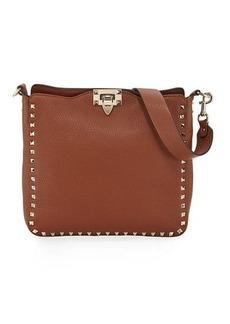 Valentino Rockstud Small Vitello Leather Hobo Bag