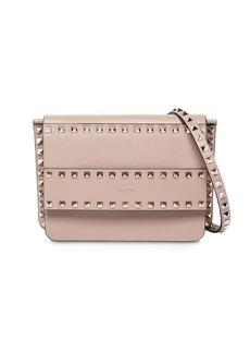 Valentino Rockstud Smooth Leather Shoulder Bag