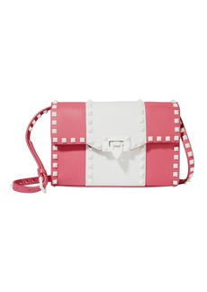 Valentino Rockstud Striped Medium Shoulder Bag
