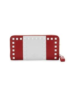 Valentino Rockstud Striped Wallet