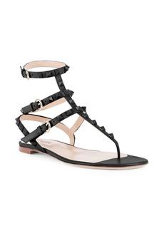 Valentino Rockstud Gladiator Thong Sandals