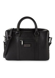 Valentino Roland Pebbled Leather Briefcase