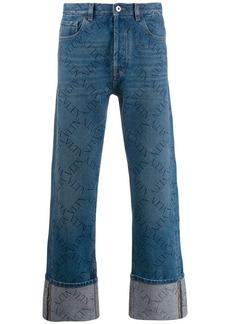 Valentino rolled-up hems VLTN jeans