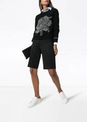 Valentino rose chain intarsia jumper