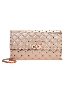 Valentino Rose Gold Rockstud Shoulder Bag