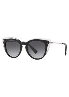 Valentino Round Acetate Sunglasses
