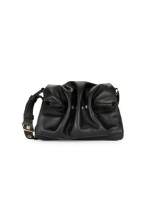 Valentino Ruched Leather Crossbody Bag
