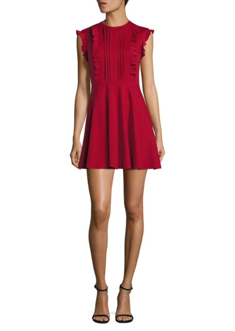 Valentino Ruffle Cotton A-Line Dress