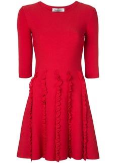 Valentino ruffle detail dress