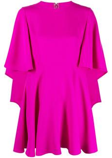 Valentino ruffle-detail silk dress