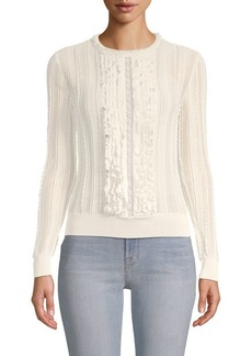 Valentino Ruffle Long-Sleeve Top